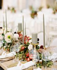 Grey candles - wedding table ideas