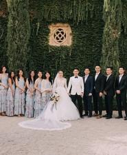 A moody dream garden wedding for a fashion forward couple at Palacio Villahermosa in Spain