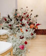 modern winter art gallery wedding in Philadelphia