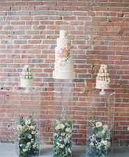 Modern garden wedding cake