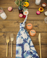 indigo dyed wedding napkins