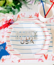 4th of July place setting