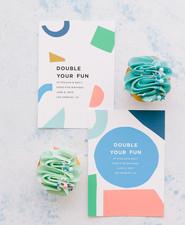 Confetti inspired birthday invite