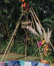Boho tipi for wedding