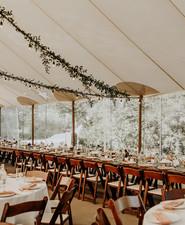 Romantic wedding tent