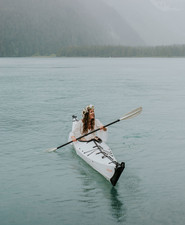 Kayak wedding portraits