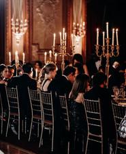 Candlelit wedding reception