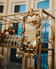 Mirror wedding menu