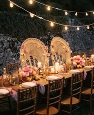 Peacock chairs for head table