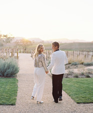bridal jumpsuit and sequin jacket