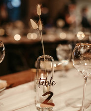 modern minimal wedding decor