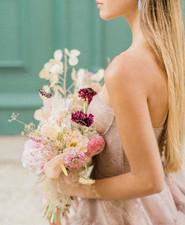 modern spring bride