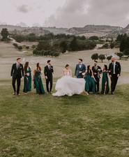 emerald wedding party