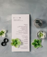 modern black and white wedding stationery