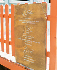 custom wedding menu