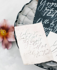 black and white wedding calligraphy