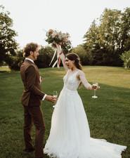 Backyard micro wedding