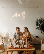 Intimate coffee shop wedding