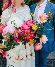 indie bride and groom