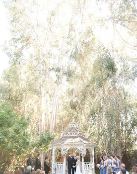 California Garden Estate Wedding Ceremony