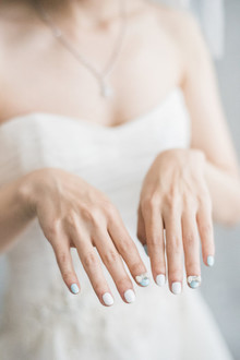 whimsical bridal nails