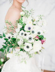 Anemone bridal bouquet