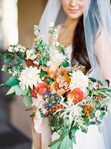 romantic fall bridal bouquet