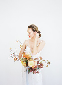 Modern minimal fall wedding inspiration in a loft