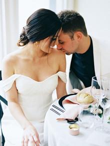 Elegant black and white wedding ideas inspired by Greek