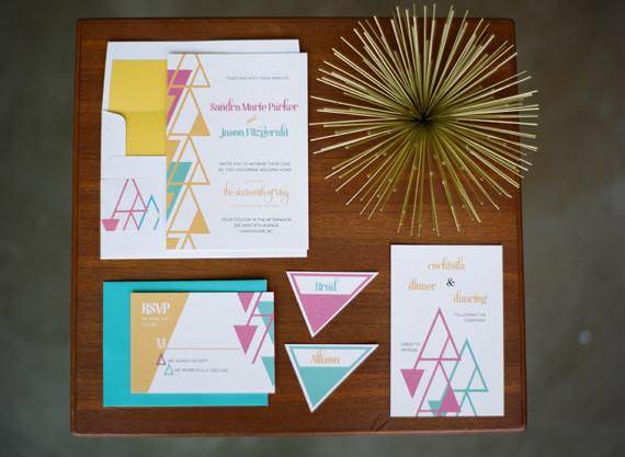 Mid Century Modern Wedding Invitations Wedding Amp Party
