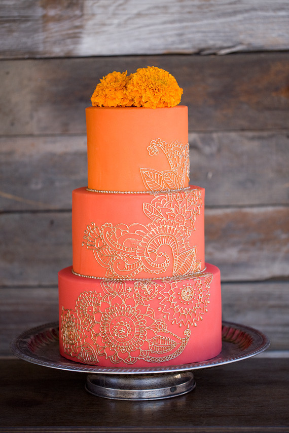 Orange And Gold Cake Wedding Amp Party Ideas 100 Layer Cake