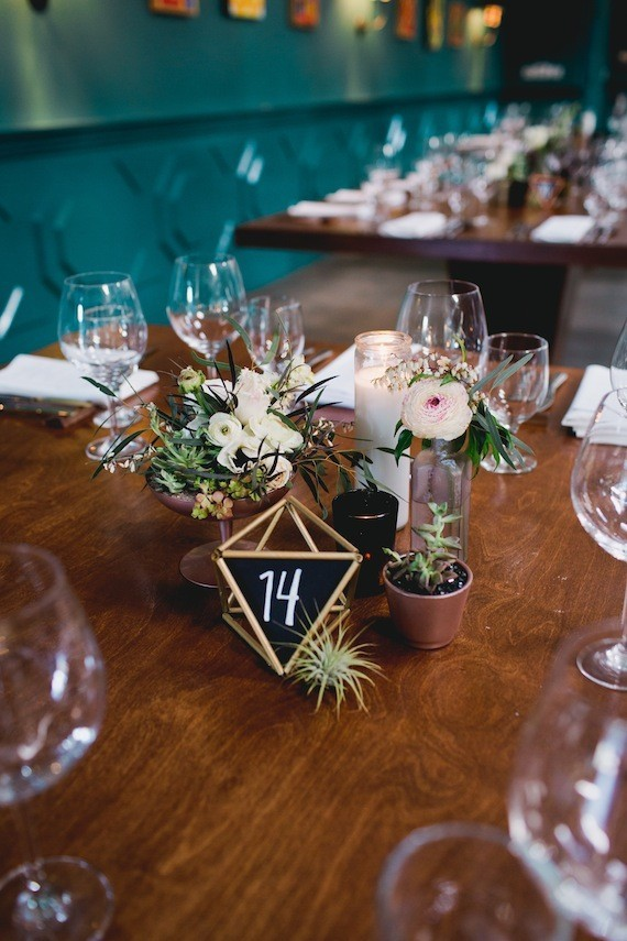 Geometric Chalk Table Numbers Wedding Amp Party Ideas