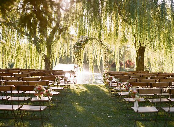 10 Romantic Outdoor Wedding Venues: Romantic Outdoor Napa Wedding Ceremony