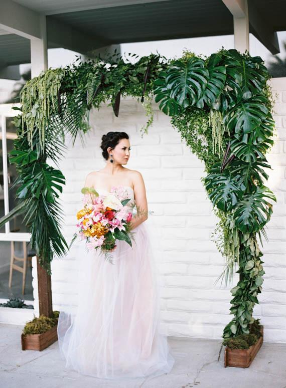 Tropical Palm Leaf Altar Wedding Amp Party Ideas 100 Layer Cake