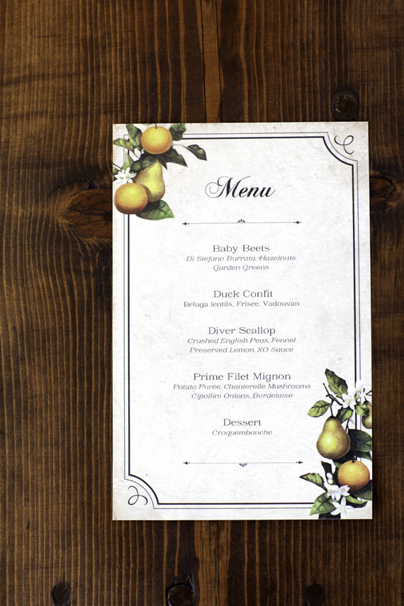 winery fall wedding dinner menu wedding party ideas 100 layer cake. Black Bedroom Furniture Sets. Home Design Ideas