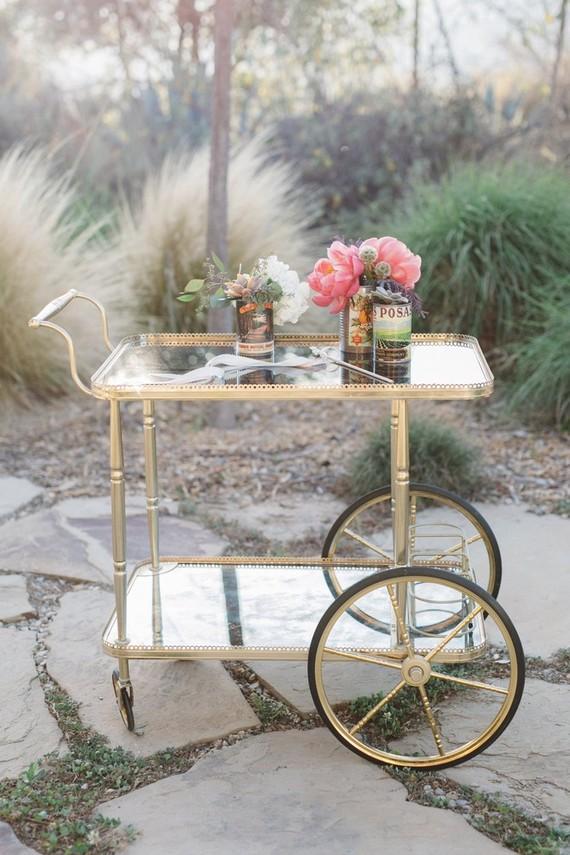 Gold Bar Cart Wedding Amp Party Ideas 100 Layer Cake