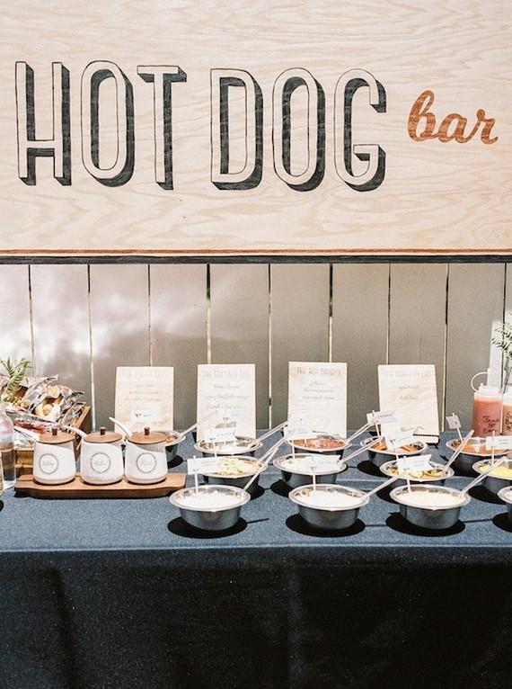 Hot Dog Bar Wedding Amp Party Ideas 100 Layer Cake