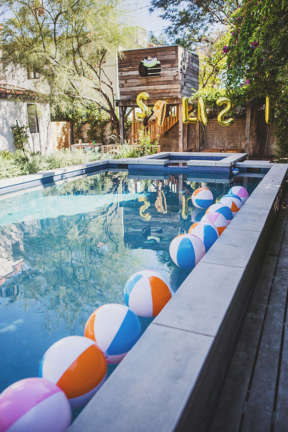 Pool Party Wedding Party Ideas 100 Layer Cake