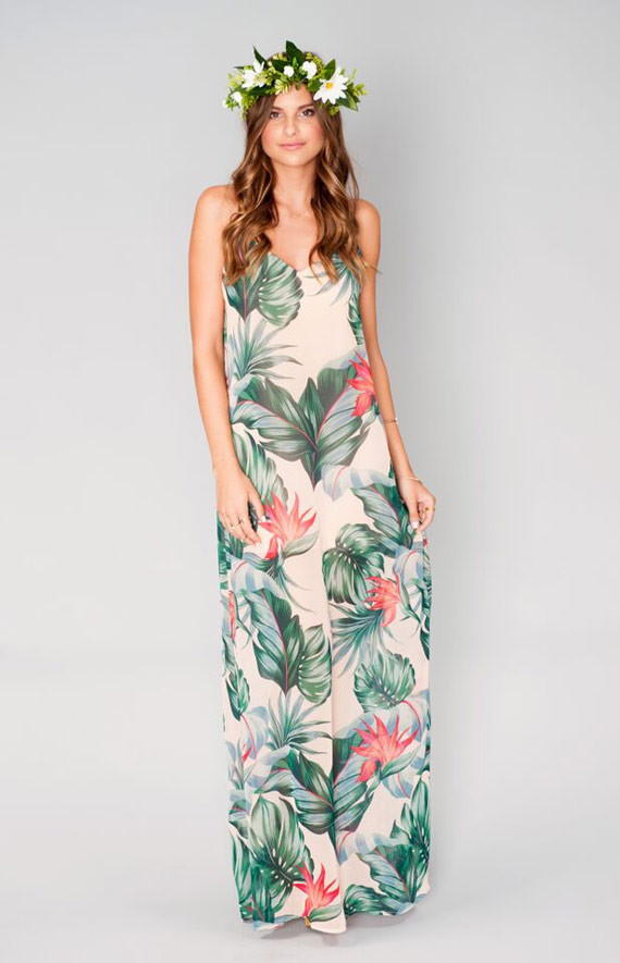 Tropical Bridesmaid Gown Wedding Amp Party Ideas 100