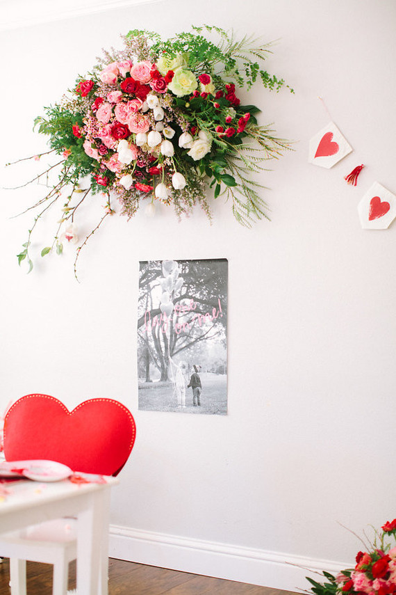 Pink And Red Floral Installation Wedding Amp Party Ideas