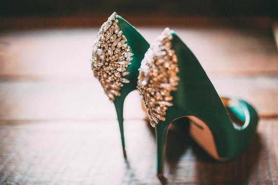 Badgley Mischka Kiara heels | Wedding