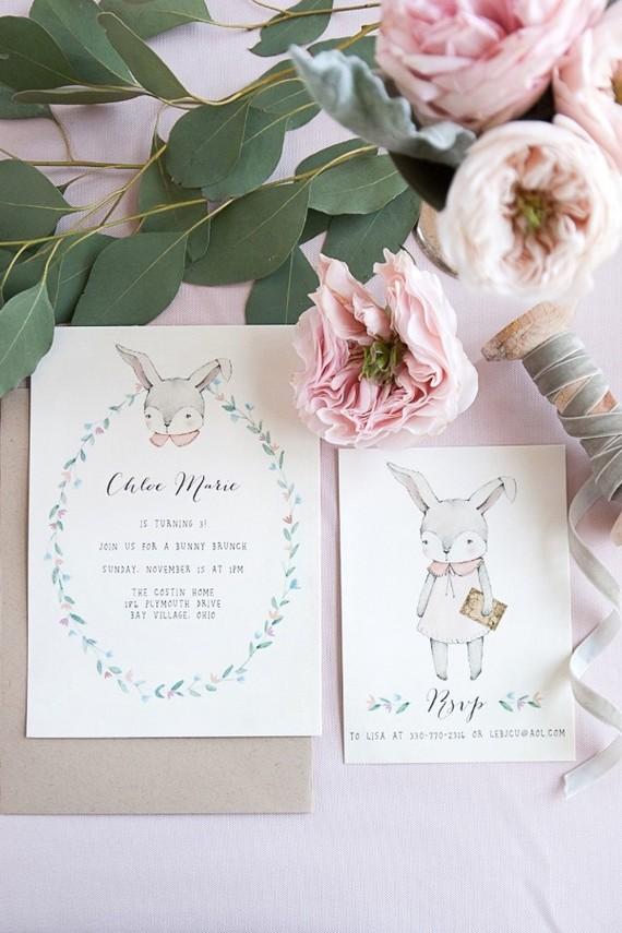 bunny birthday invitations wedding party ideas 100 layer cake