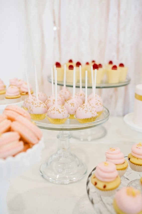 pink and gold dessert table | Wedding & Party Ideas | 100 ...