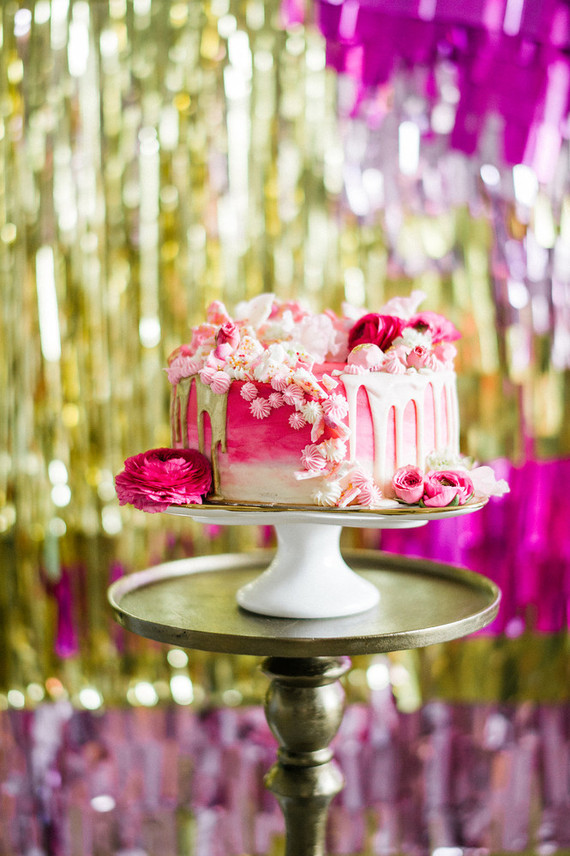 hot pink and gold wedding cake pink and gold dessert table wedding amp ideas 100 15331