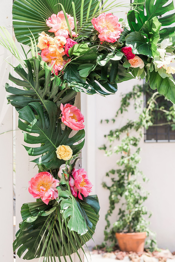 Tropical Floral Arch Wedding Amp Party Ideas 100 Layer Cake