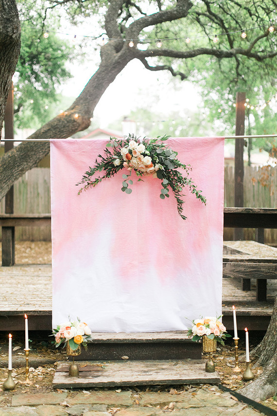 Dip Dyed Ceremony Backdrop Wedding Amp Party Ideas 100