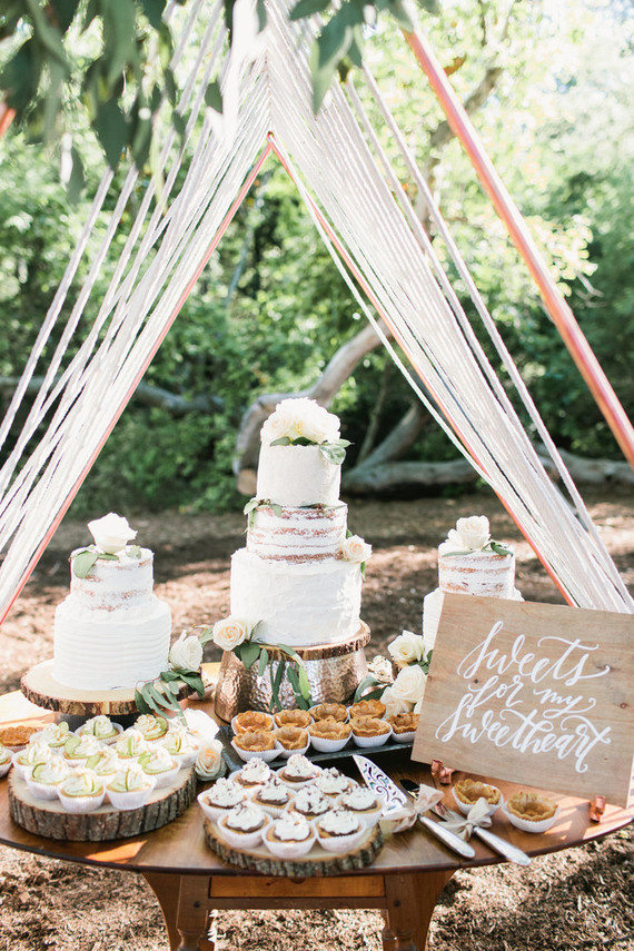 Copper And Rope Dessert Table Tent Wedding Amp Party Ideas