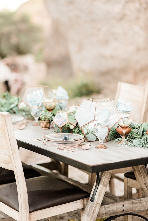 Geometric Tablescape Wedding Amp Party Ideas 100 Layer Cake