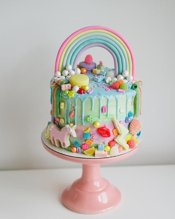 Rainbow Messy Birthday Cake Wedding Amp Party Ideas 100
