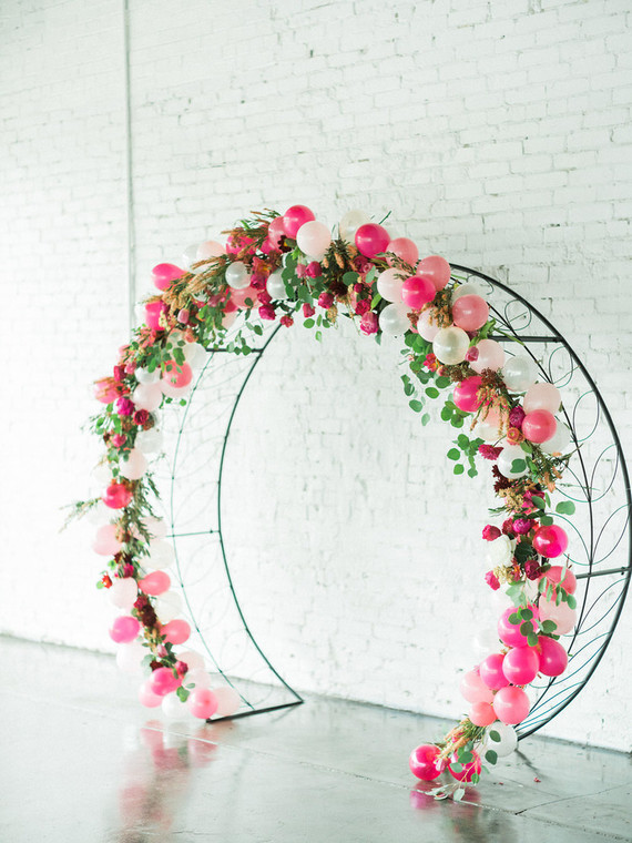 Floral Balloon Arch Wedding Amp Party Ideas 100 Layer Cake